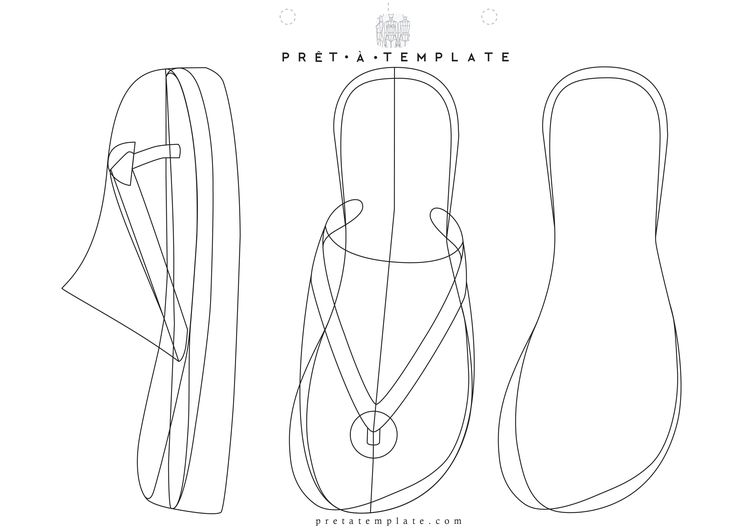 flip flop slippers figure fashion template d i y your own