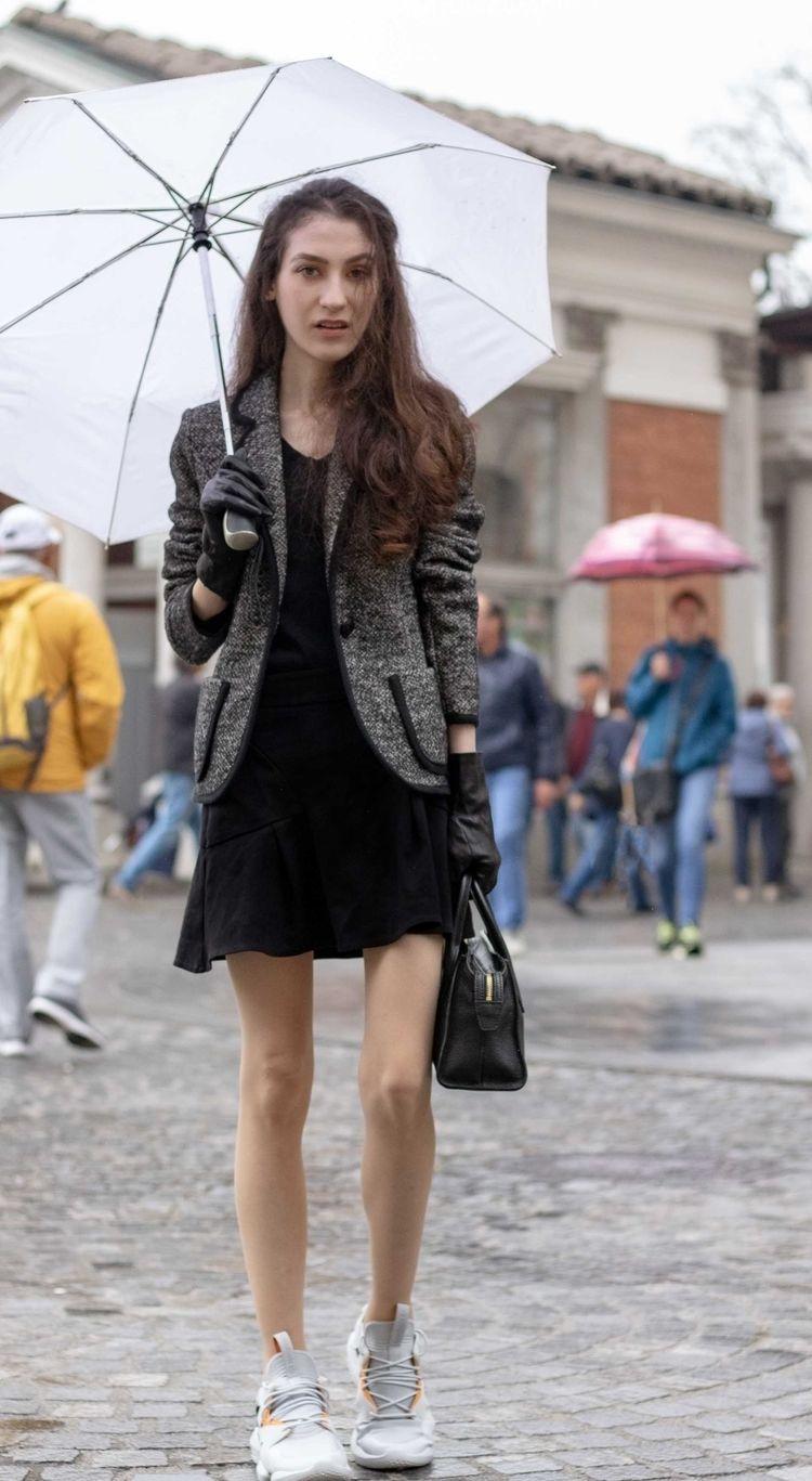 b79d010d Beautiful Slovenian Fashion Blogger Veronika Lipar of Brunette from Wall  dressed in Marella tweed jacket,