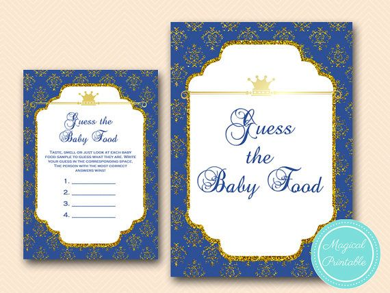 Baby Food Game Guess The Baby Food Game Prince Baby Boy