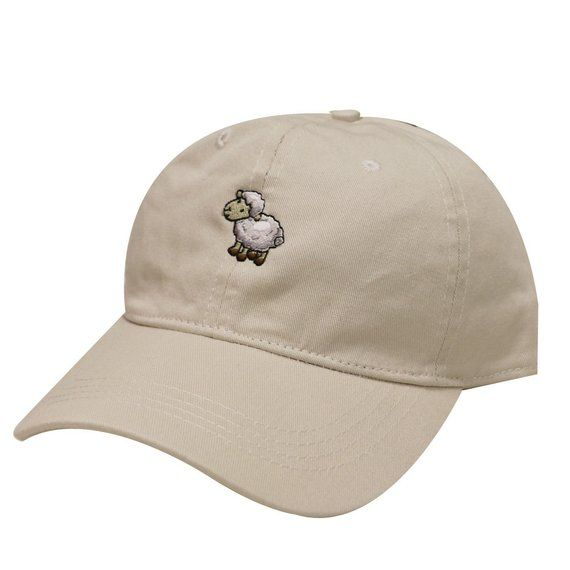 4cb1166be24 Capsule Design Sheep Cotton Baseball Dad Cap Putty
