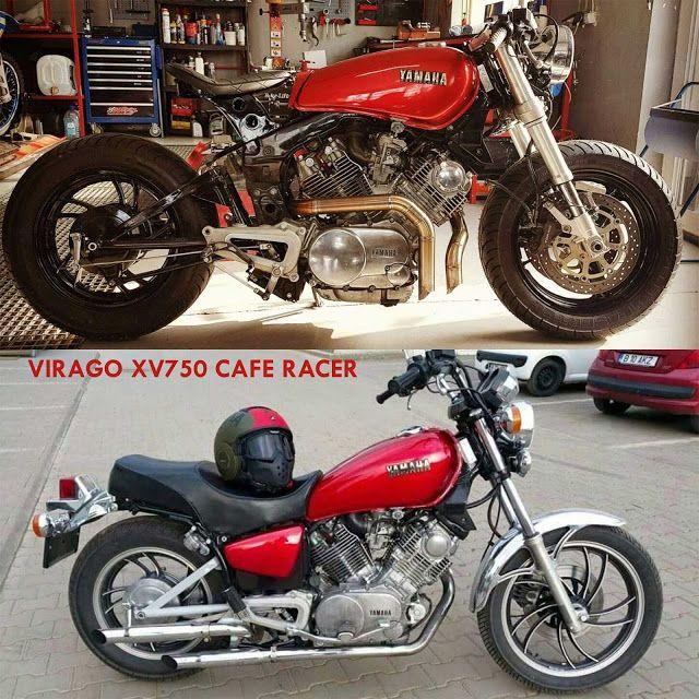 Yamaha Virago XV750 CAFE RACER Conversion RED