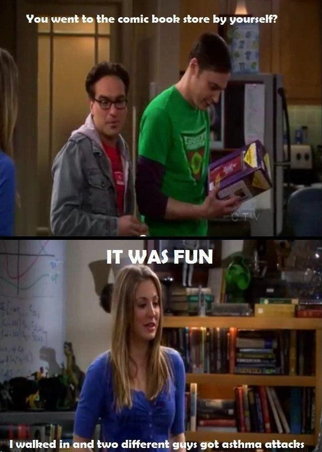 Haha! I just love all the references of the comic book store in Big Bang Theory!
