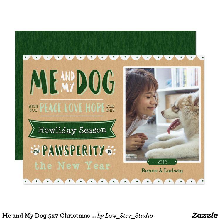 Me and My Dog 5x7 Christmas Card