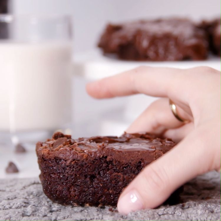 Heavenly fudgy brownies for the chocoholic in all of us.