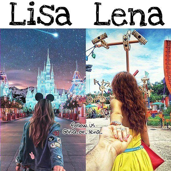 What would you choose ? 😍👭 🙆 Lisa or lena 😝 ✔✔✔✔✔✔ Follow us for more 😝 💡💡💡💡💡 I love both but I choose lena 😝 #inshot #girls #cute…