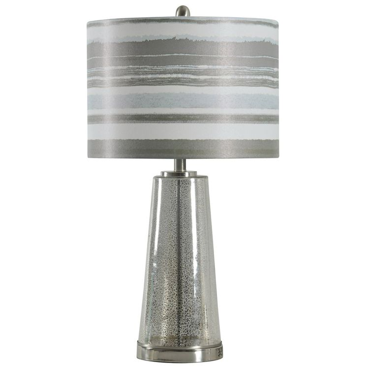 StyleCraft Home Collection 29 In Ventura Standard 3 Way Switch Table Lamp  With Fabric Shade