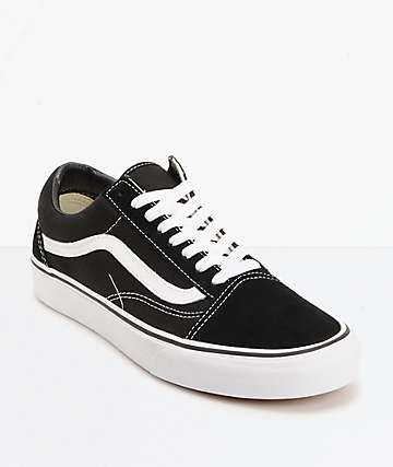 Vans Old Skool Black   White Skate Shoes 3df683a425444