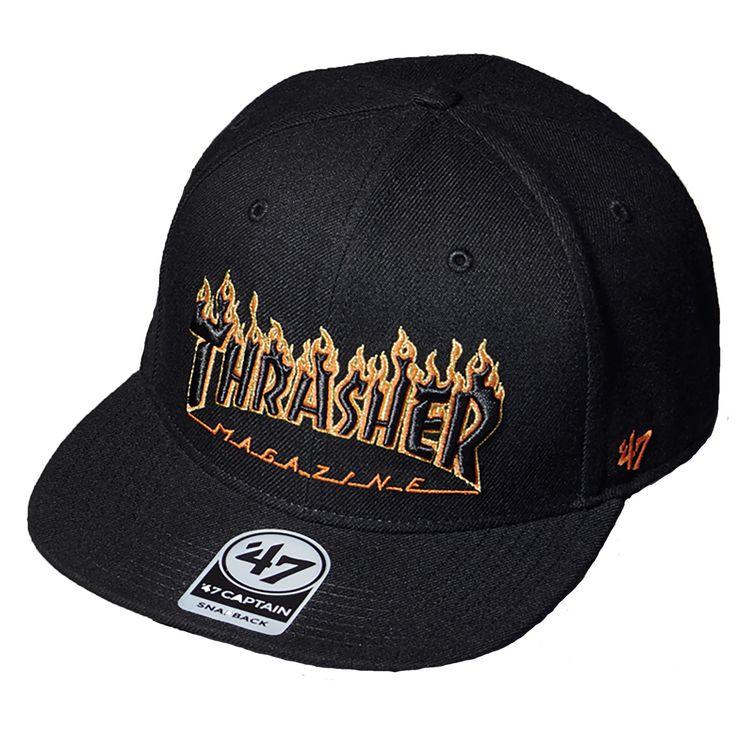 fd51692487b Men s San Francisco Giants Black Thrasher Snapback Cap