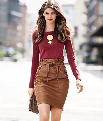 179d316d6243e Modelos de faldas y blusas elegantes