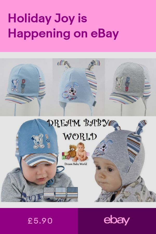 RICH Cotton boys hat spring 0-18 months TIE UP Infant KIDS 4c05ecd0f93f