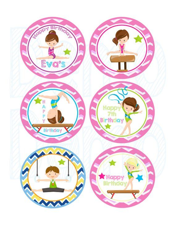 55off cupcake toppers tags gymnastic cupcake toppers gy rh pikony com