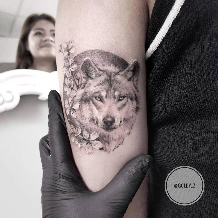 4ef69041c 40 Best Wolf Head Tattoo Designs and Id Pinterest Media analytics ...
