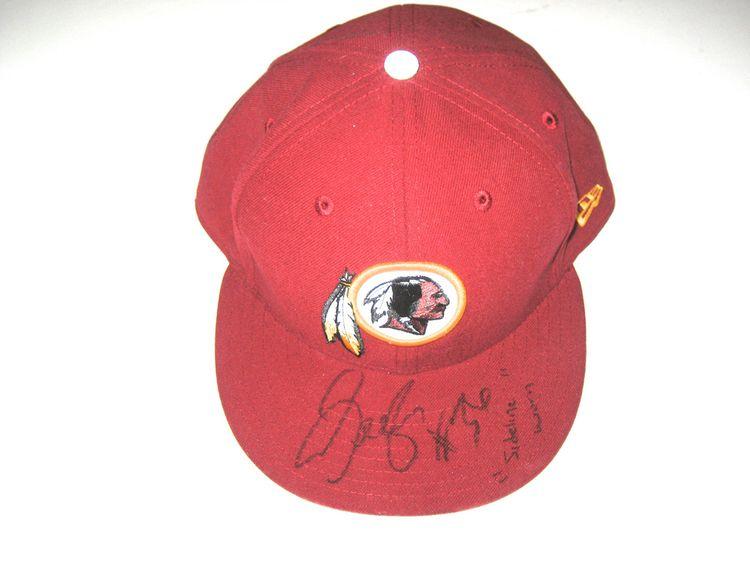 45b431d2 Darrel Young Sideline Worn & Signed Washington Redskins New Era Hat