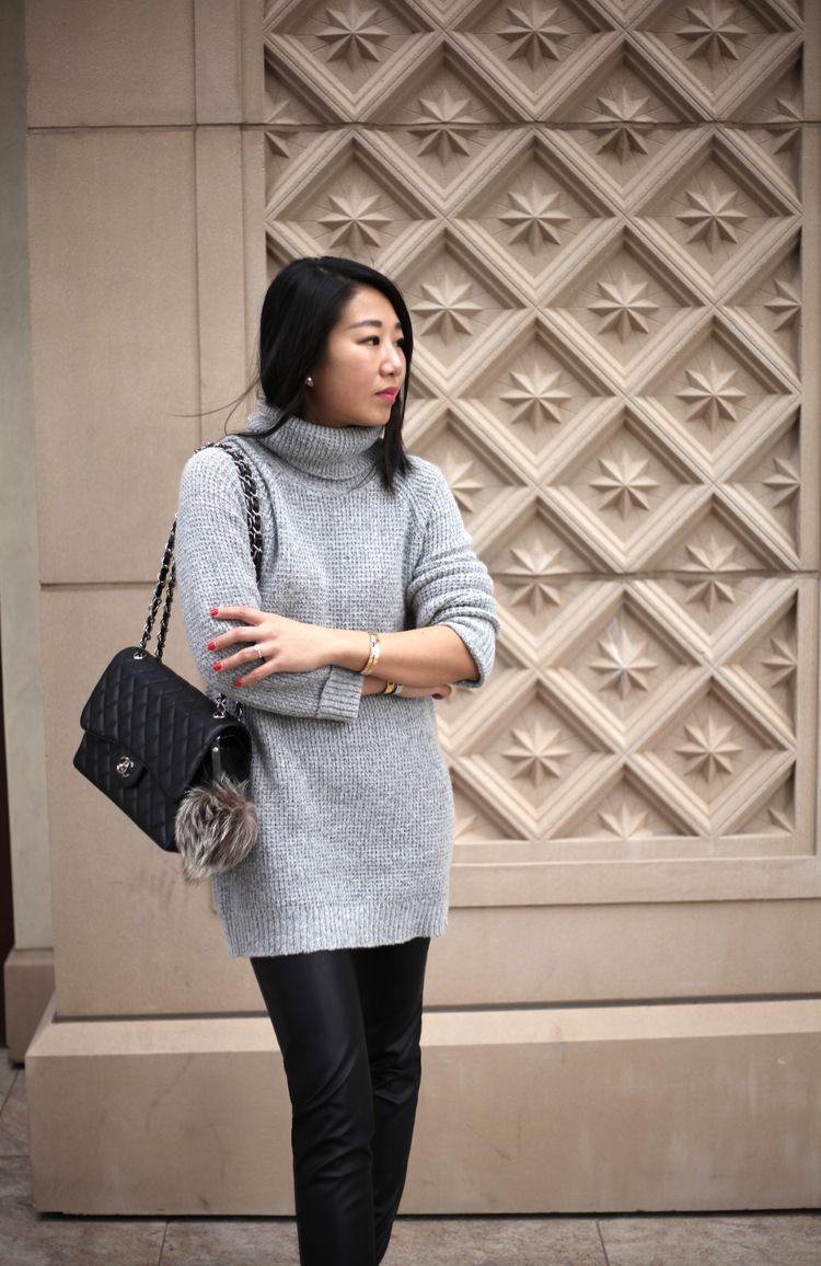 9adbb3f0a621 poshclassymom-forever-21-chunky-knit-turtleneck-sweater-shein-faux-leather-pants-aldo-boots-chanel-bag-fur-pompom-bag-charm-casual-winter-street-style-  ...