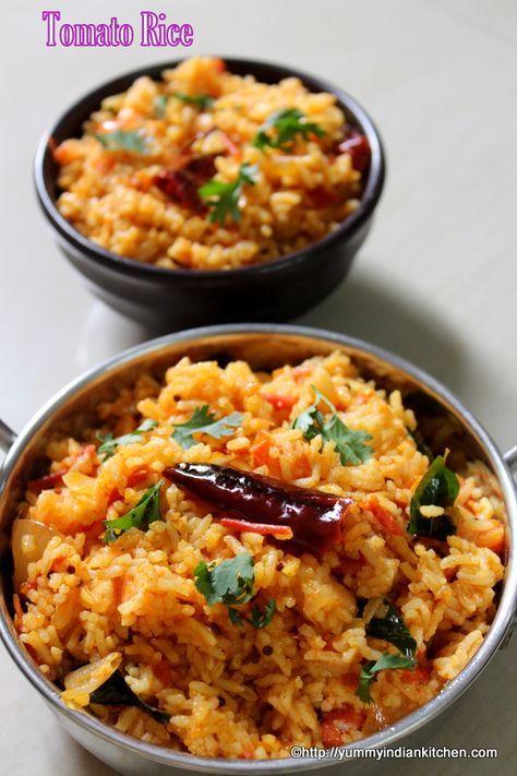 Tomato Rice Recipe South Indian, Thakkali Sadam | Tomato Bath