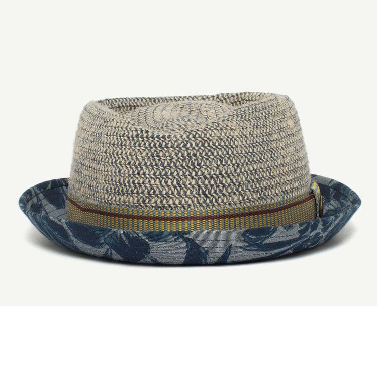 4e3ed3f83663a7 Take A Chill Pill cotton porkpie Men's hat with 1 3/4