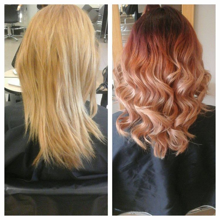 Over Processed Damaged Dirty Blonde To This Beautiful Red T