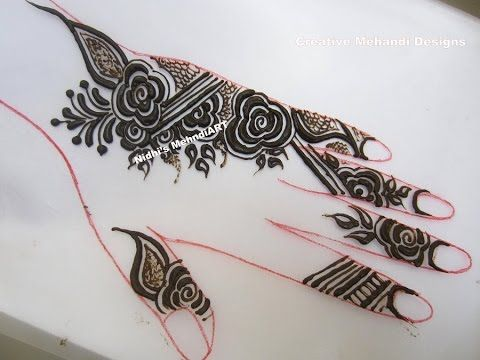 Youtube By Nidhi S Mehndi Art Quick Gulf Style Floral F