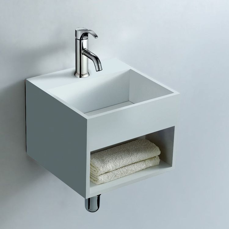 Small Wall Mount Sink Option Bathroom Idea With Storage By Prodigg Prodiggbathroom