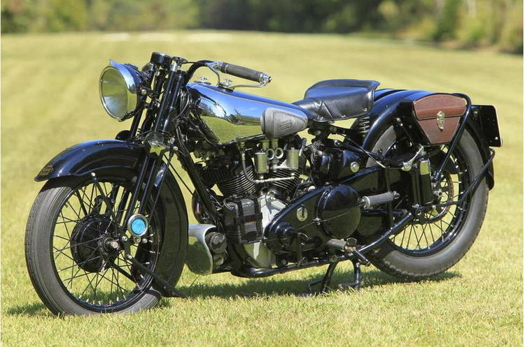 1938 Brough Superior SS100 as restored by Jack Graham Motorcycles of Sydney, Australia and US restorer Vic Olsen.