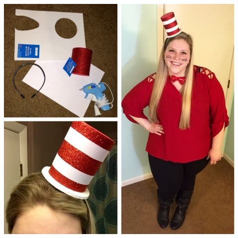 The Thrifty Teacher Diy Dr Seuss Cat In The Hat Costume