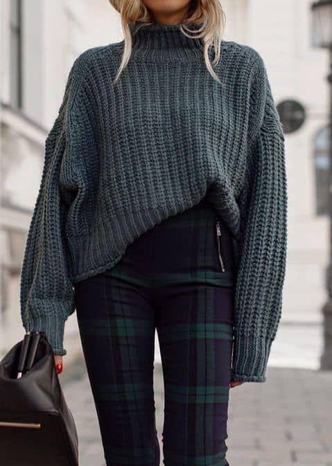 Turtleneck Knitted Pullovers Women Winter Long Sleeve Pull Femme Knitting Autumn
