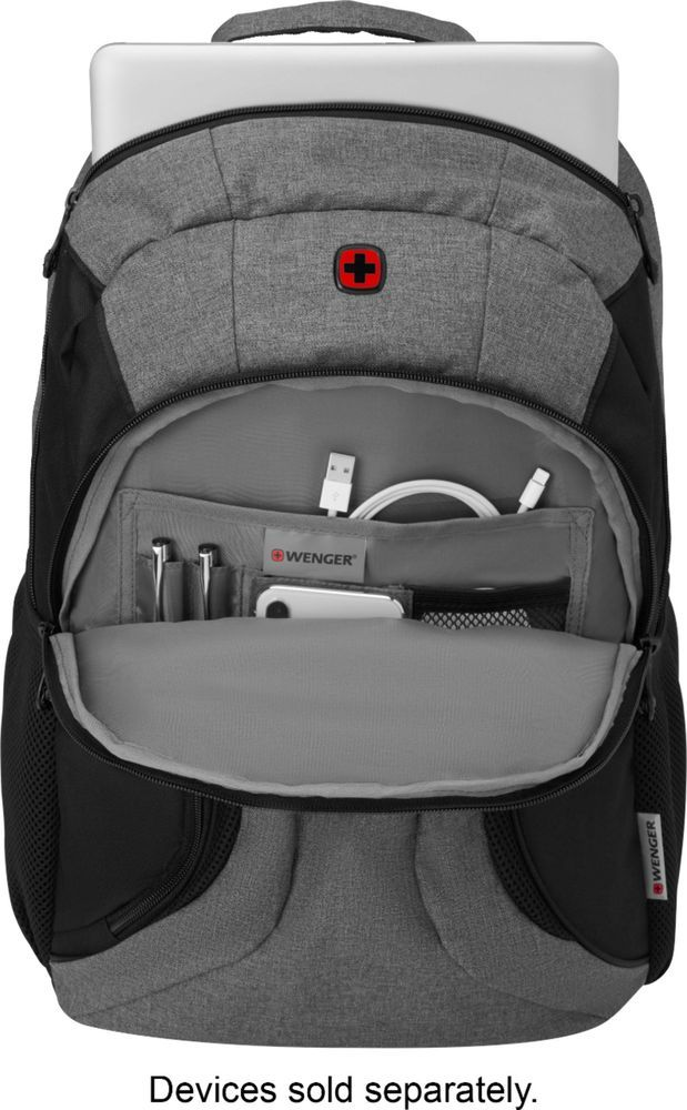 """Wenger - Swiss Gear Backpack for 16"""""""" Laptop - Black/Heather"""