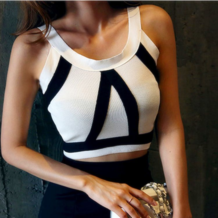 b731632f80d 2016 New Summer Crop Top For Women Striped Halter Tops Female Sexy Vest Tank  Camis Woman