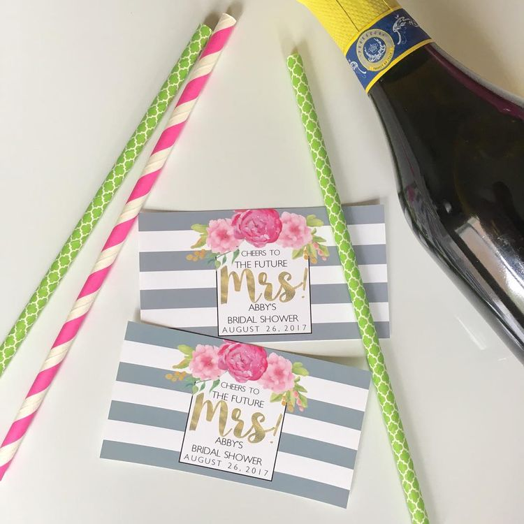 planning a bridal shower or bachelorette check out these metallic gold bridal shower mini champagne