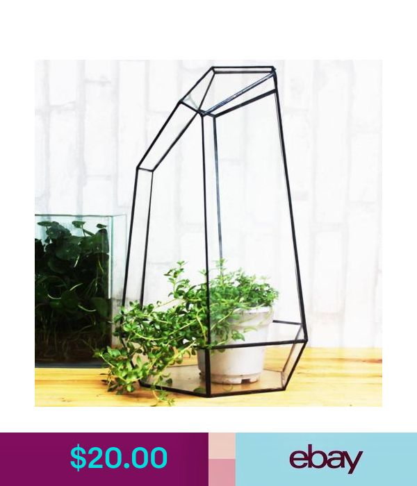 Gardening Supplies Black Glass Terrarium Geometric Glass S