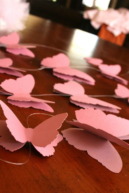 Learn how to make these lovely butterfly mobiles, so pretty for a garden or fairy birthday party!
