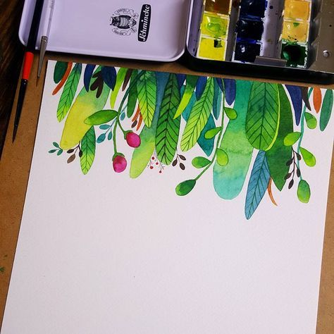 Watercolor Illustration Practice by minartillust | Instagram
