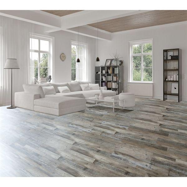 Goodfellow Weathered Barnwood Oak 5-mm Luxury Vinyl Plank Flooring  (7.08-in W x 48-in L)