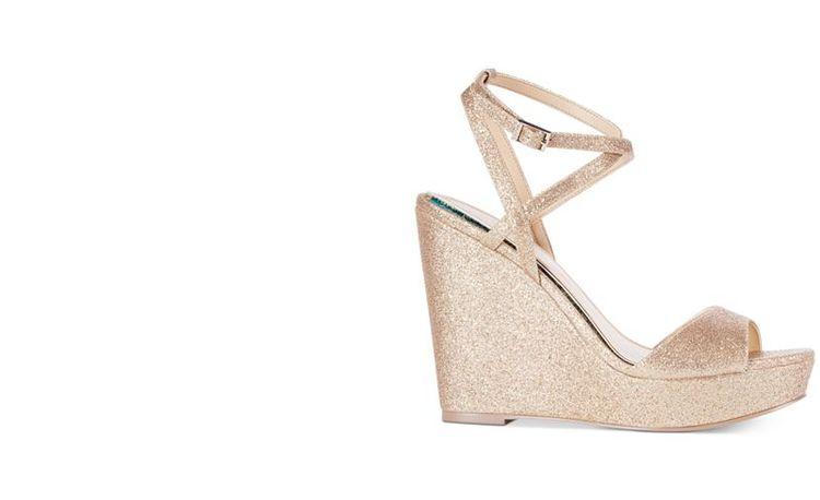 6965dcecea8 Jewel Badgley Mischka Ambrosia Glittered Wedge Evening Sandals - Wedges -  Shoes - Macy s