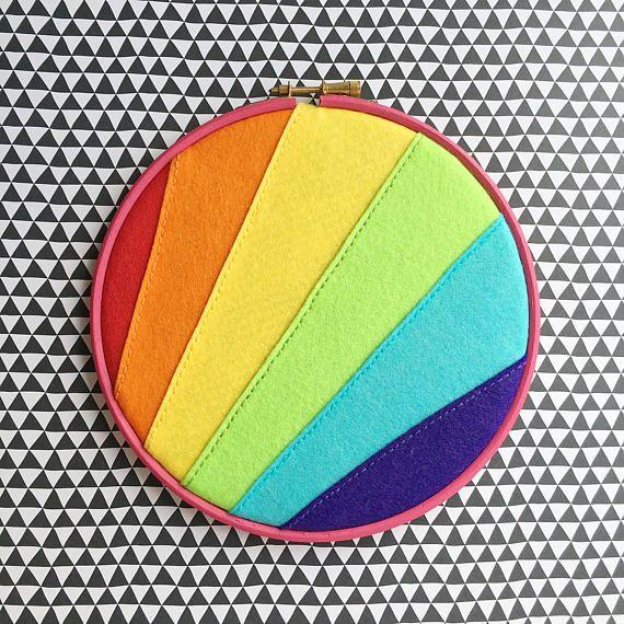 Vegan felt rainbow enamel pin holder // PRE ORDER // vegan