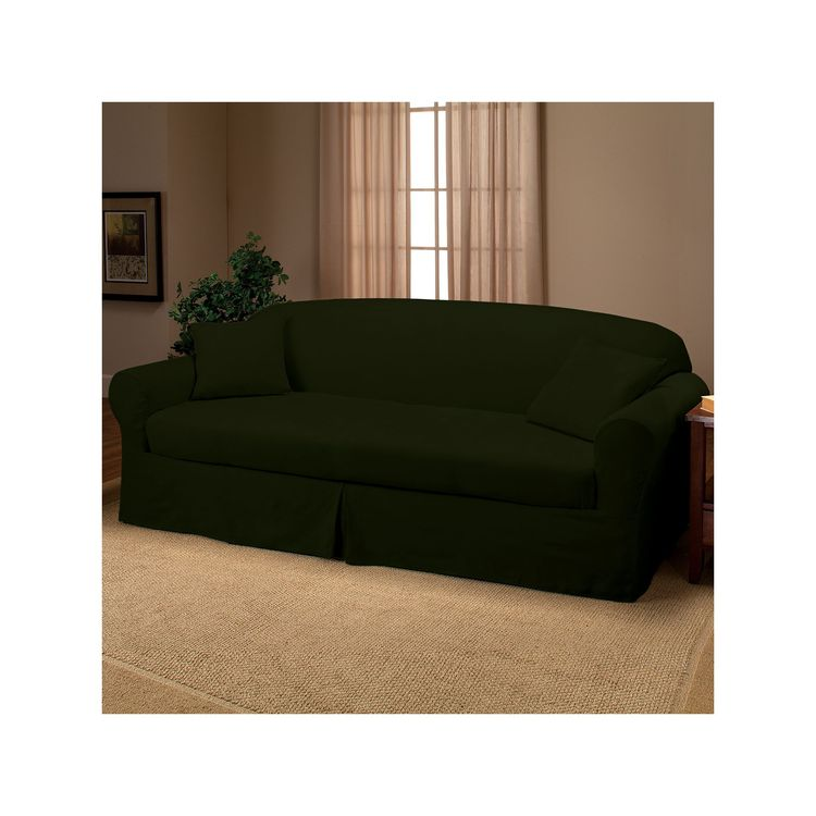 madison faux suede 2 pc sofa slipcover rh pikby com