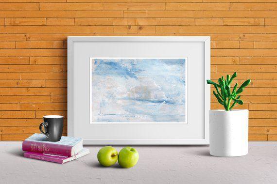 digital sky painting abstract printable wall art calming