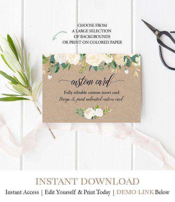 INSTANT ACCESS Invitation Insert Card, Winter Baby Shower