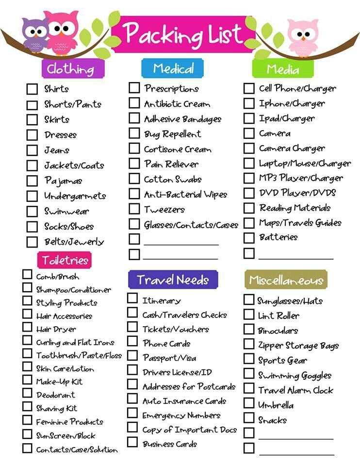 Free Printable Ultimate Packing Checklist