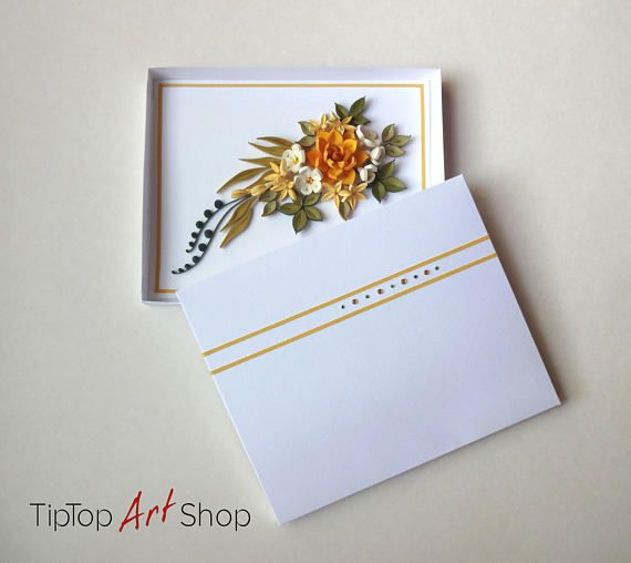 Homemade Paper Quilling Greeting Card With Unique Design An