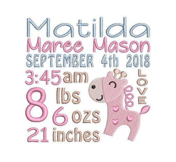 baby birth announcement template baby birth stats machin