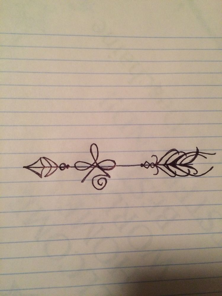 The Tattoo I Drew Up The Celtic Symbol For Strength With A