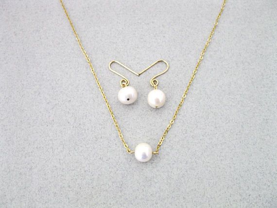 Necklace And Earring Set Wedding Pearl Bridesmaid