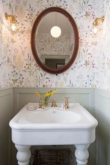 ❤15 Beautiful Flower Wallpaper Design Ideas you must Immediately Copy it for your Bathroom