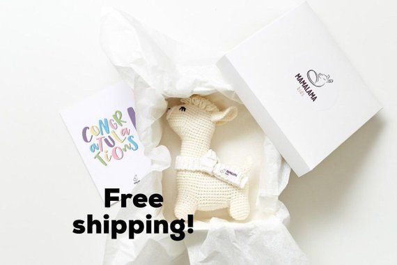 c9fd84dafca61 Items similar to Pregnancy gift box for expecting mom to be organic crochet  llama alpaca stuffed nursery decor toy Baptism christening congrats reveal  ...