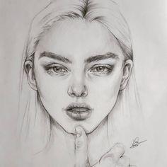Retratos expressivos do esboço do lápis