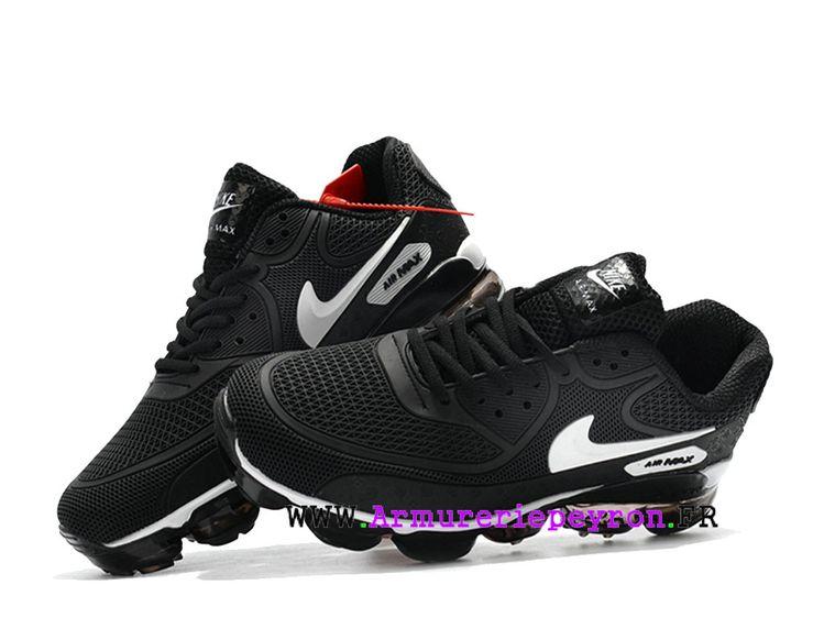 2018 Off White X Nike Air Max 90 Coussin dair Chaussures Nike LifeStyle  Homme Blanc noir cf8535fc04d5
