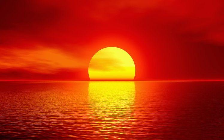 Gambar Pemandangan Laut Saat Sunset