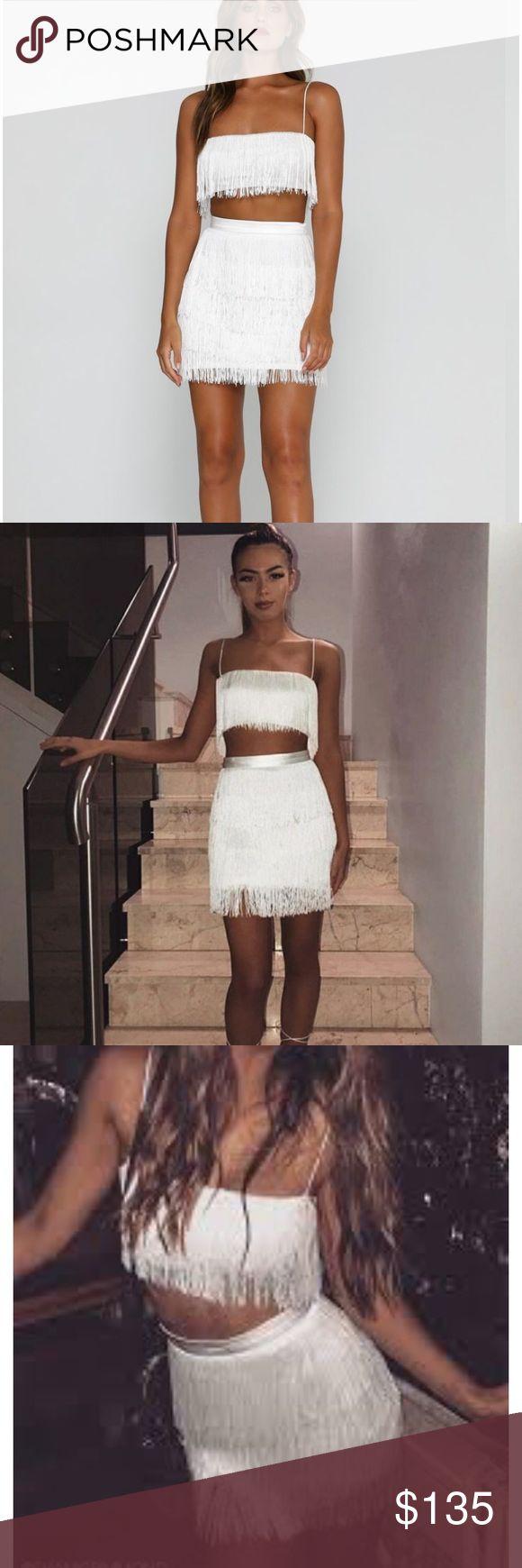 cd9fcf690a2bf Meshki Sofia Fringe Crop Top   Skirt Gorgeous Meshki set ! Brand New with  Tags .