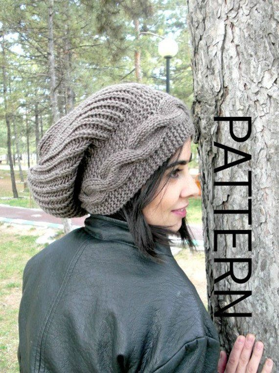 9bbf3fa36280bb Instant Download Knit hat pattern Digital Hat Knitting PATTERN PDF Winter  Hat Cable Style Knit